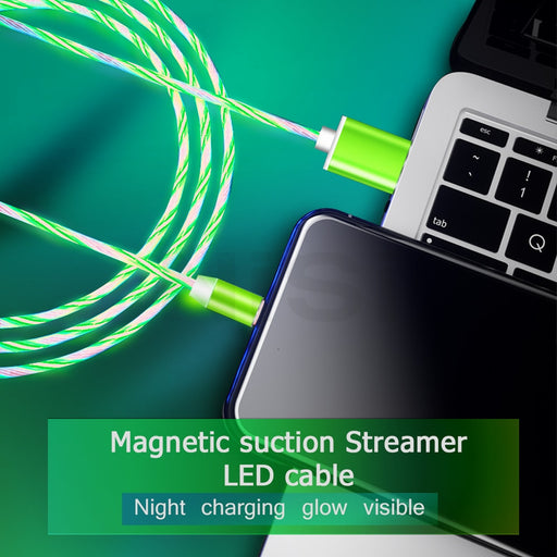 1M LED Magnetic Charging Cable 3A - TlbatkShop | طلباتك شوب ® Official Site