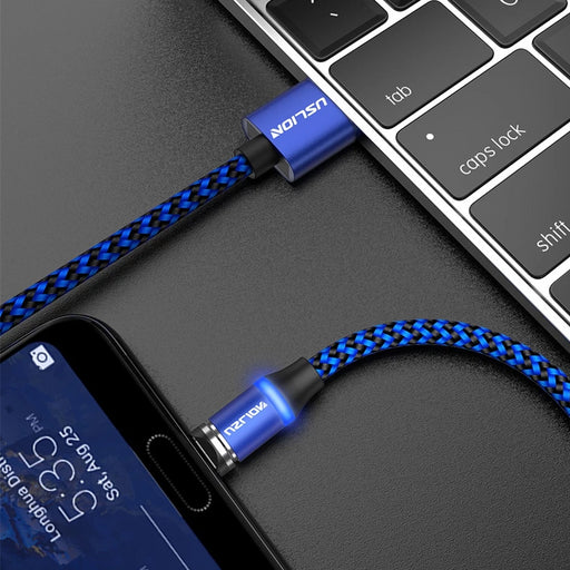 3A BLUEMagnetic Phone Charger Cable - TlbatkShop | طلباتك شوب ® Official Site