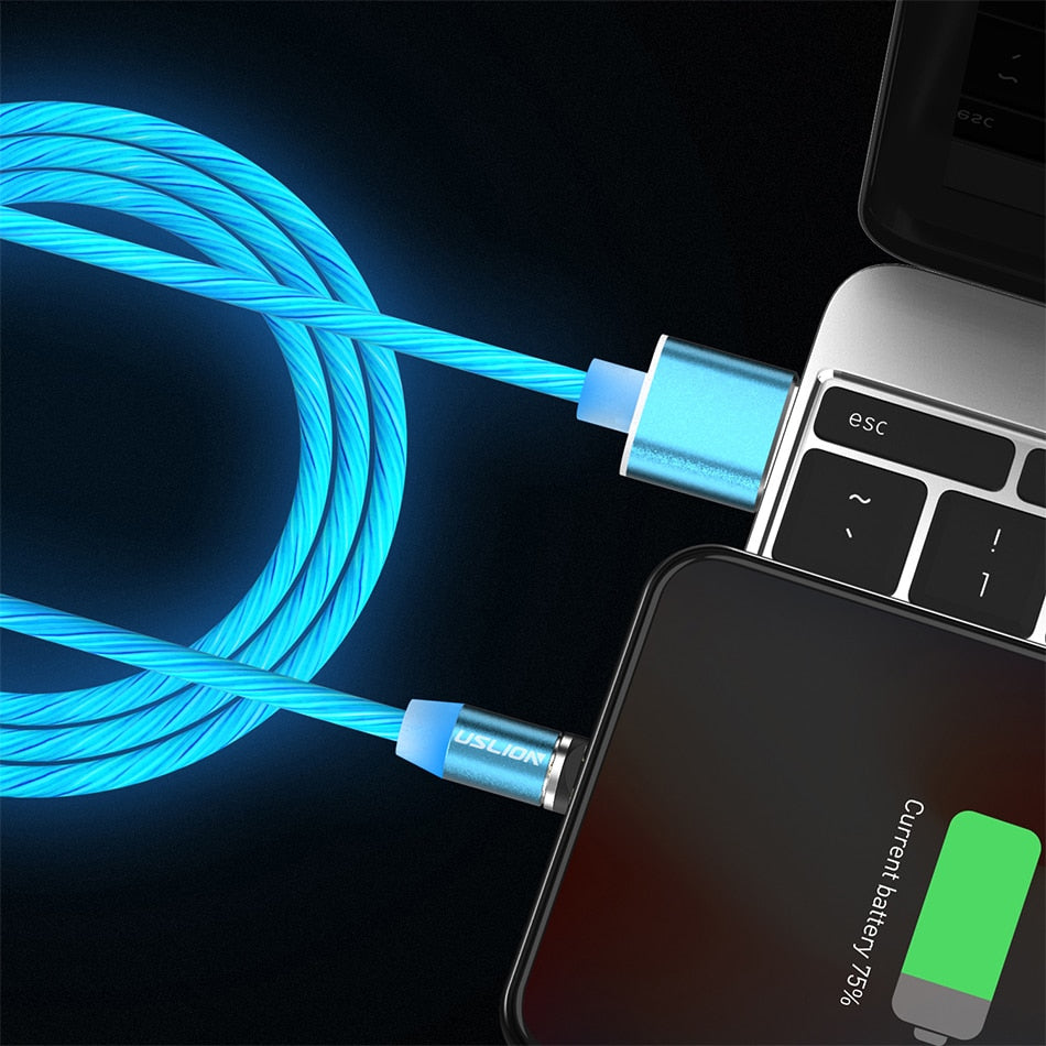 Blue LED Magnetic Charging Cables Light - TlbatkShop | طلباتك شوب ® Official Site