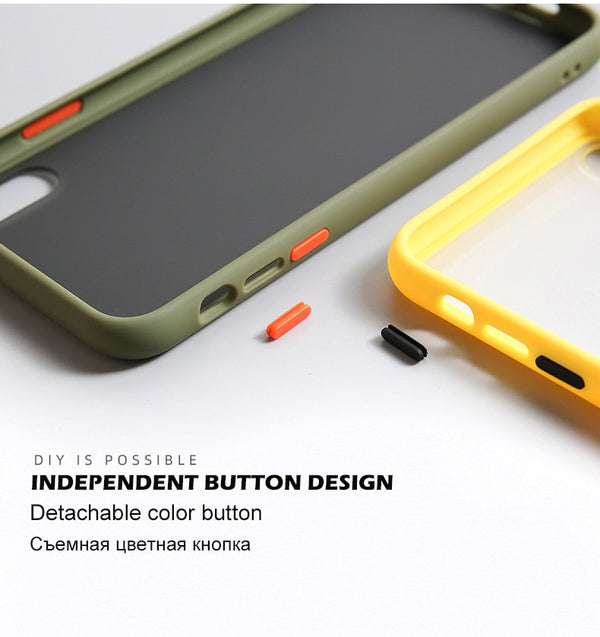 Shockproof Transparent Phone YELLOW - TlbatkShop | طلباتك شوب ® Official Site