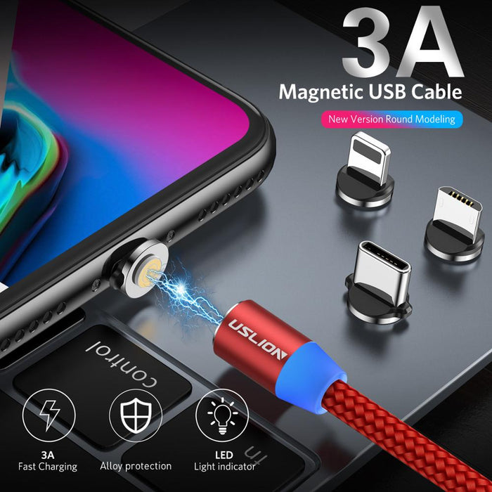 3A RD Magnetic Phone Charger Cable - TlbatkShop | طلباتك شوب ® Official Site