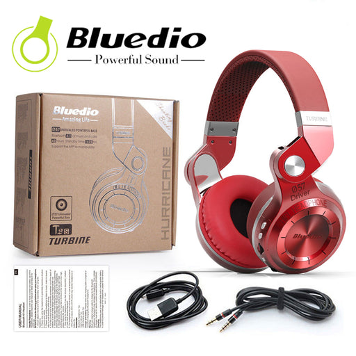 Bluedio T2+ RD Bluetooth stereo headphones - TlbatkShop | طلباتك شوب ® Official Site