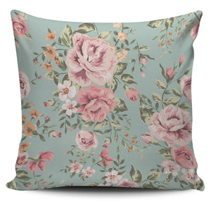 Vintage Floral Pillow Cover