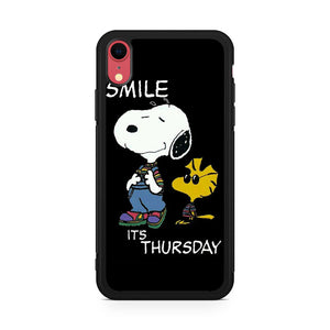 Snoopy Smile its Thursday iPhone XR Case