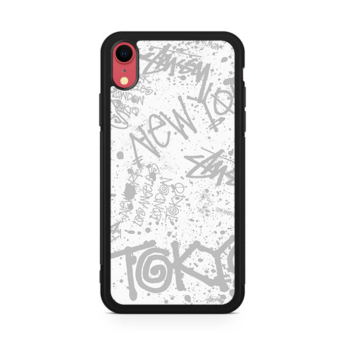 Stussy Cities Of The World Art iPhone XR Case