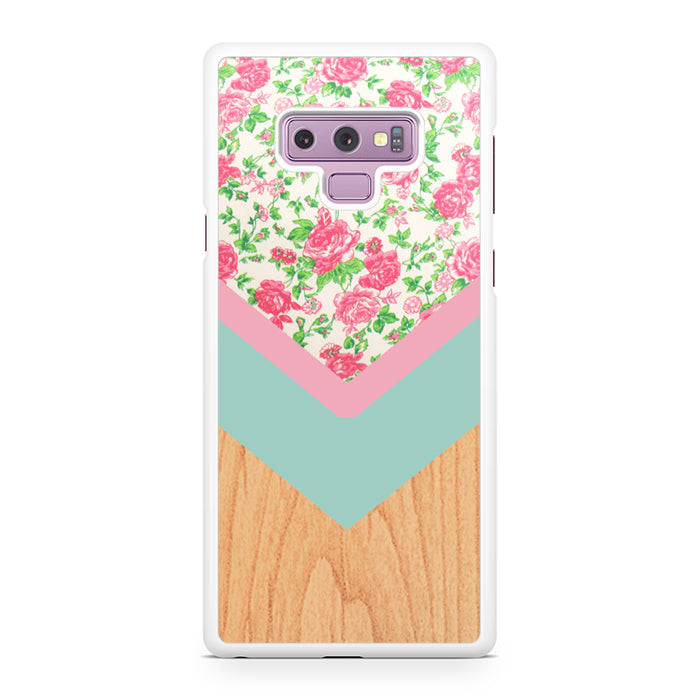 Wood Floral 1 Samsung Galaxy Note 9