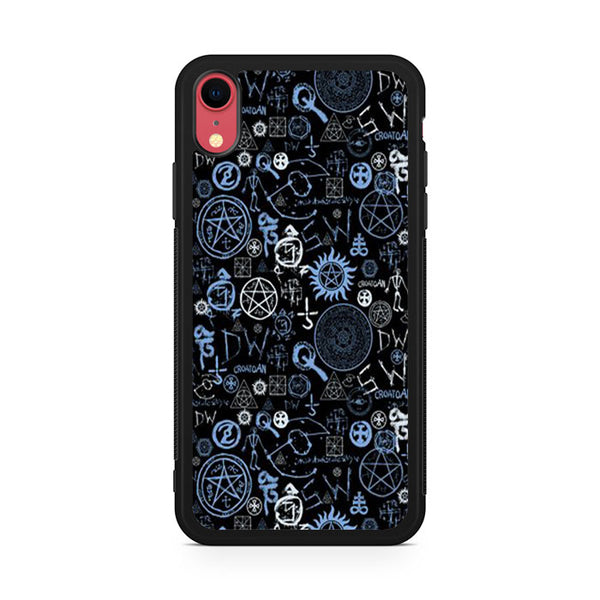 supernatural logo collage iPhone XR Case