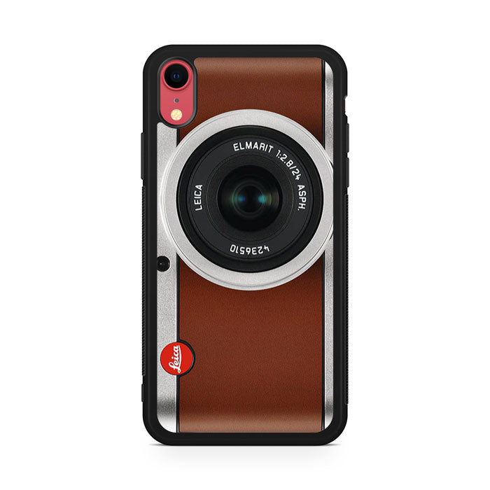 tanned leather leica camera iPhone XR Case