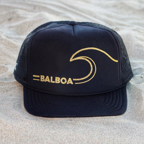 Balboa Wave Hat - Black / Gold