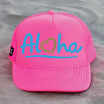 Aloha Hat - Neon Pink / Blue / Gold