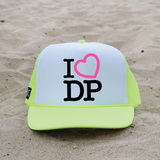 I Heart My Beach Trucker Hat - Neon Yellow
