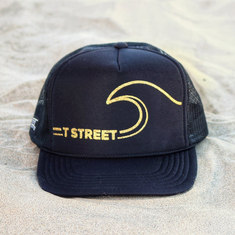 T-Street Wave Hat - Black / Gold