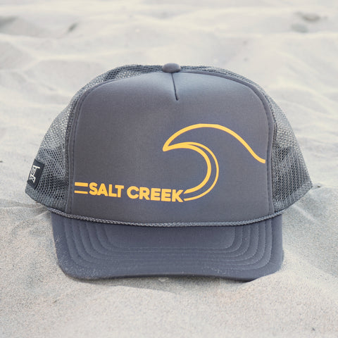 Salt Creek Beach Wave Hat - Charcoal / Mustard