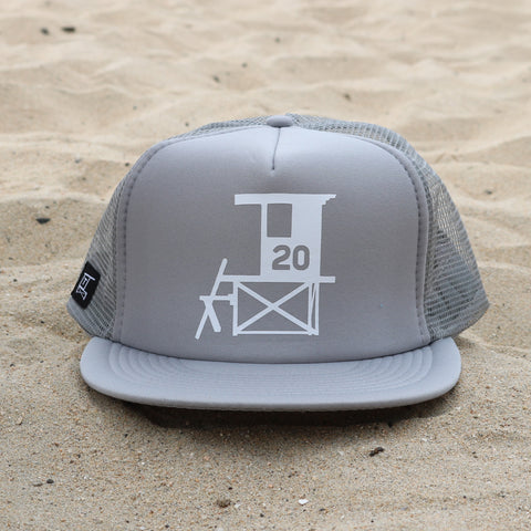 Newport Beach Lifeguard Tower Hat - Gray