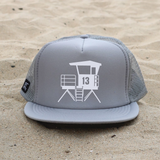 Huntington Beach City Lifeguard Tower Hat - Gray / White