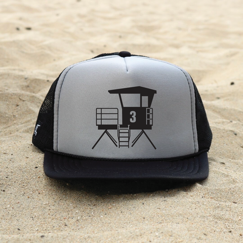 Huntington Beach City Lifeguard Tower Hat - Gray / Black