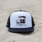 Huntington Beach City Lifeguard Tower Hat - White / Black