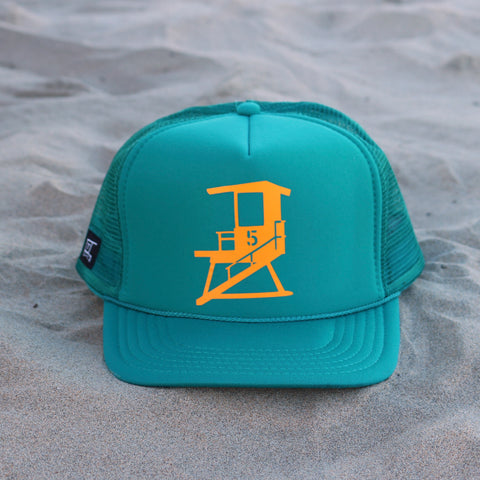 San Clemente City Tower - Teal / Mustard