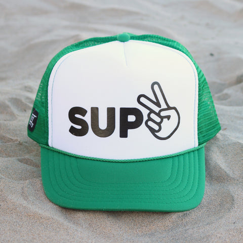 SUP Hat - White / Green