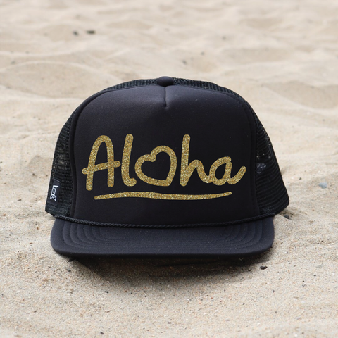 Aloha Hat - Black / Gold