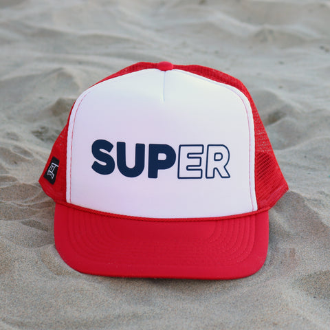 SUPer Hat - White / Red / Navy