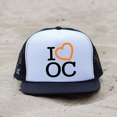 I Heart Orange County Hat - White / Black