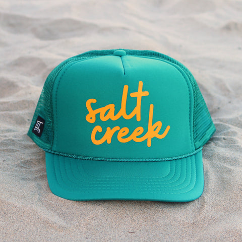 Salt Creek Beach Cursive - Teal / Mustard