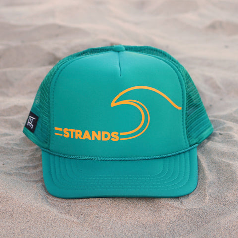 Strands Beach Wave Hat - Teal / Mustard