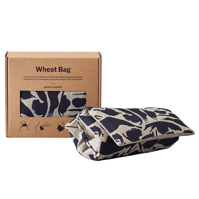 Wheat Bag Linen Navy