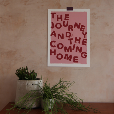 The Journey and The Coming Home Pink Print