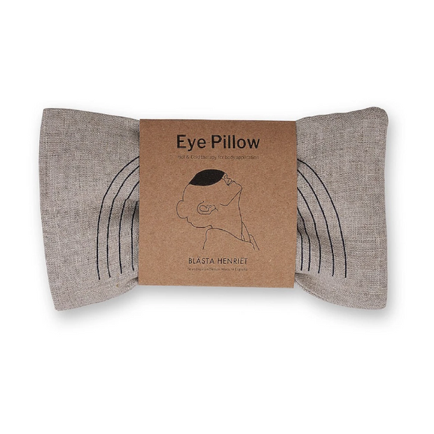 Eye Pillow - Linen Navy Faces