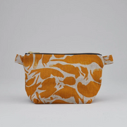 Small Wash Bag - Linen Yellow