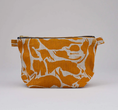 Large Wash Bag - Linen Yellow