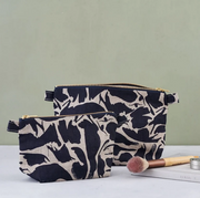Small Wash Bag - Linen Navy