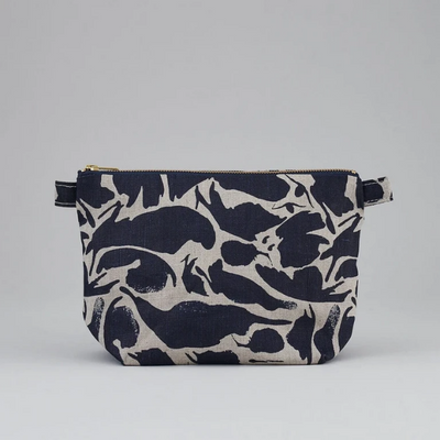 Large Wash Bag - Linen Navy
