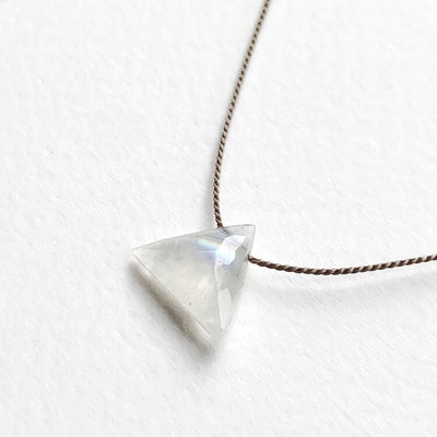 Dainty Silk Necklace | Moonstone