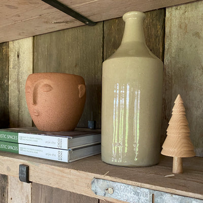 Large vintage stoneware bottle