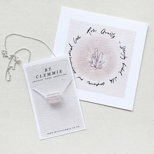 Anchor of Love Necklace - Rose Quartz