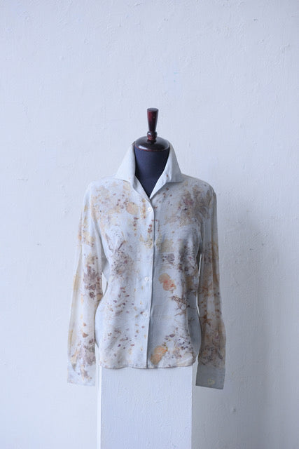 SILK BLOUSE WITH OAK LEAVES