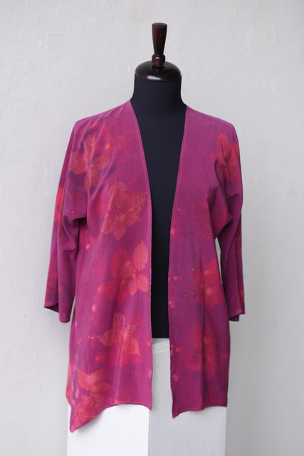 COCHINEAL DYED TUNIC WITH RASPBERRY IMAGES