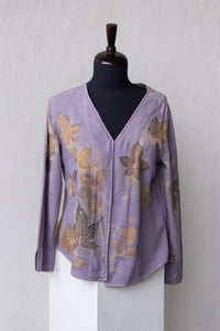 LOGWOOD DYED SILK NOIL JACKET