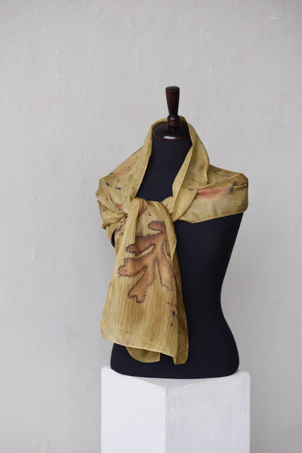 GOLDEN CHARTER OAK SCARF