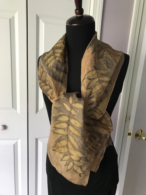 DOUBLE PRINTED SUMAC SCARF