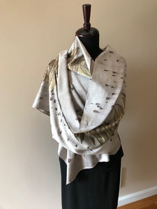 WALNUT DYED SILK SHAWL