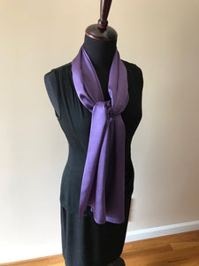 LOGWOOD DYED SILK SATIN SHAWL