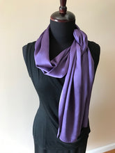 Load image into Gallery viewer, LOGWOOD DYED SILK SATIN SHAWL