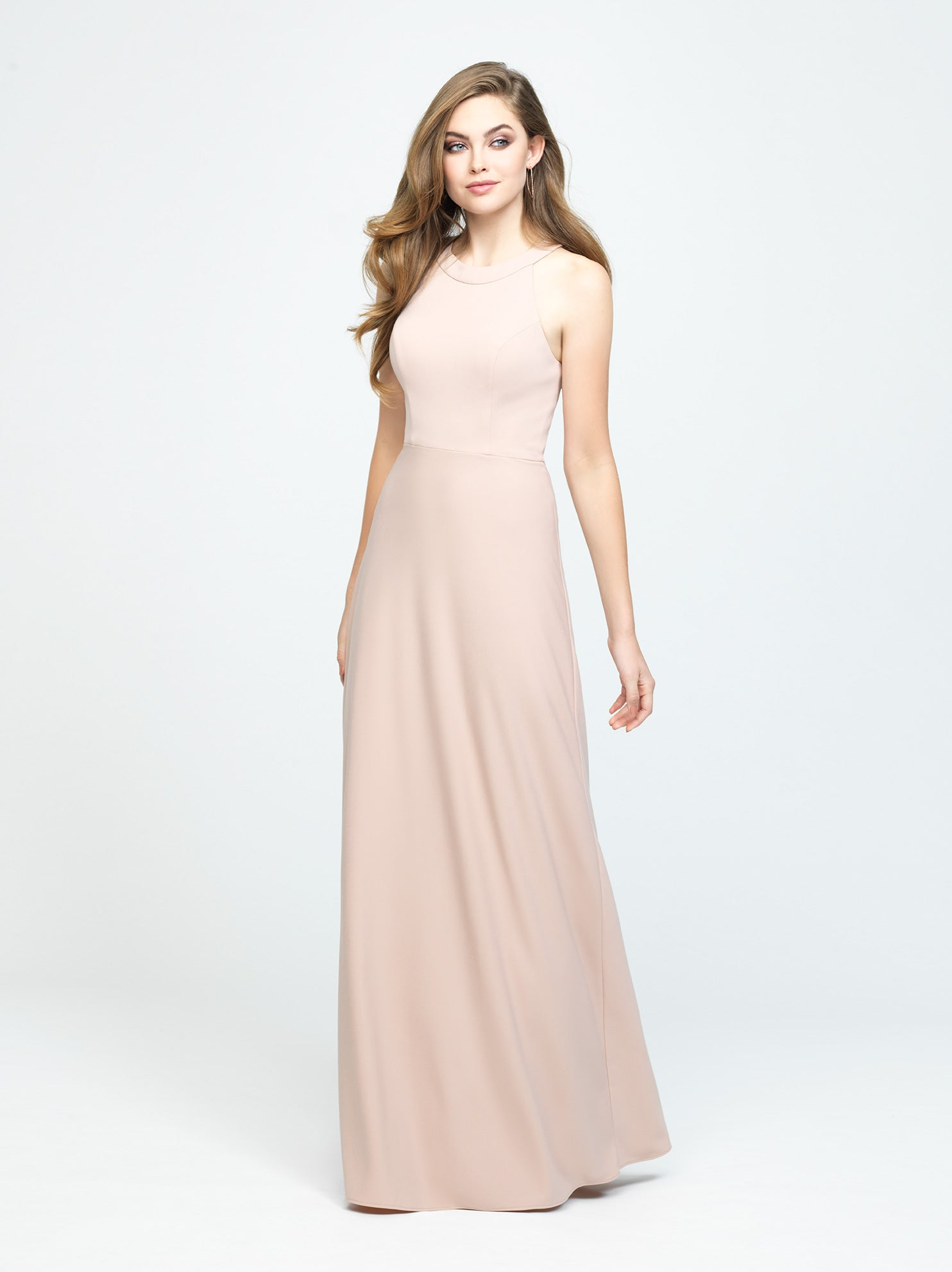 Champagne Halter A-Line Dress