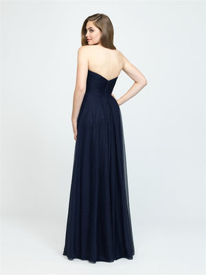 Navy Strapless Smooth Sparkled Dress - Size 10