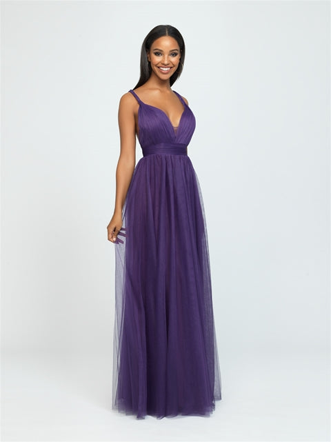 Eggplant Braided Tank Tulle Dress
