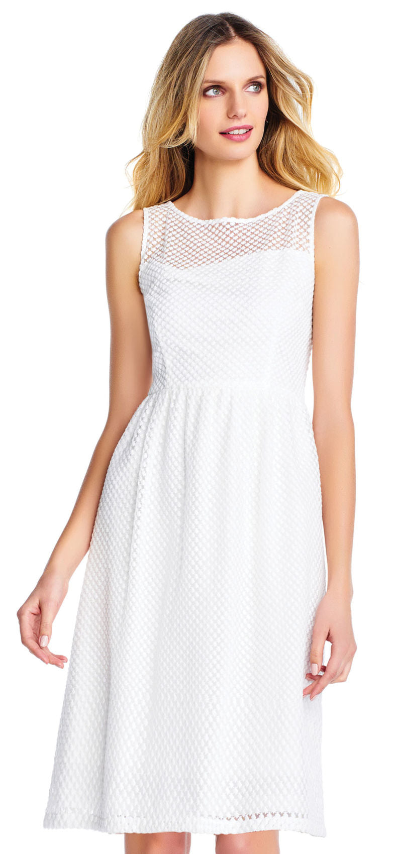 White Starry Patterned Short Dress